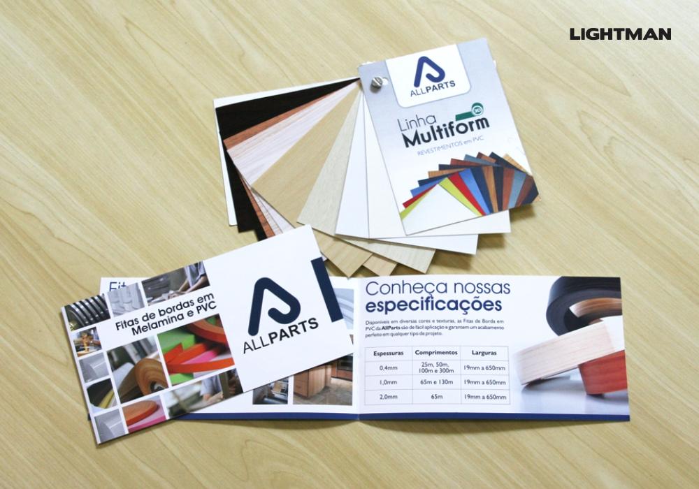 Folder e Mostruário AllParts